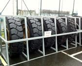 Rack à roues pour engins.